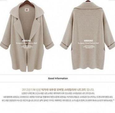 厂家直销 速卖通爆款ebay欧美风宽松中长款针织开衫毛衣外套女装