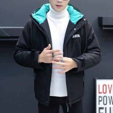 2018冬季新款韩版青少年学生连帽男士棉衣外套加厚保暖男式棉服潮